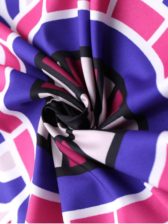 Convertible 3D Printed Beach Throw - PURPLE ONE SIZE Mobile