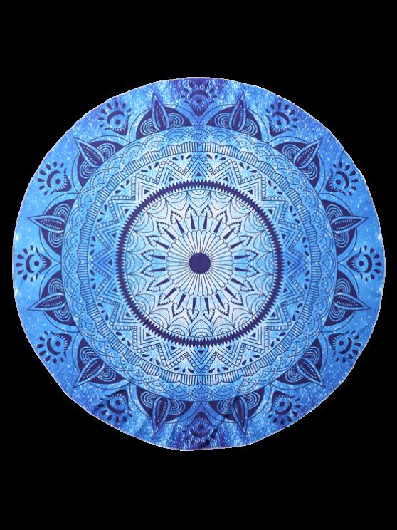 Round Geometric Beach Throw - BLUE ONE SIZE Mobile