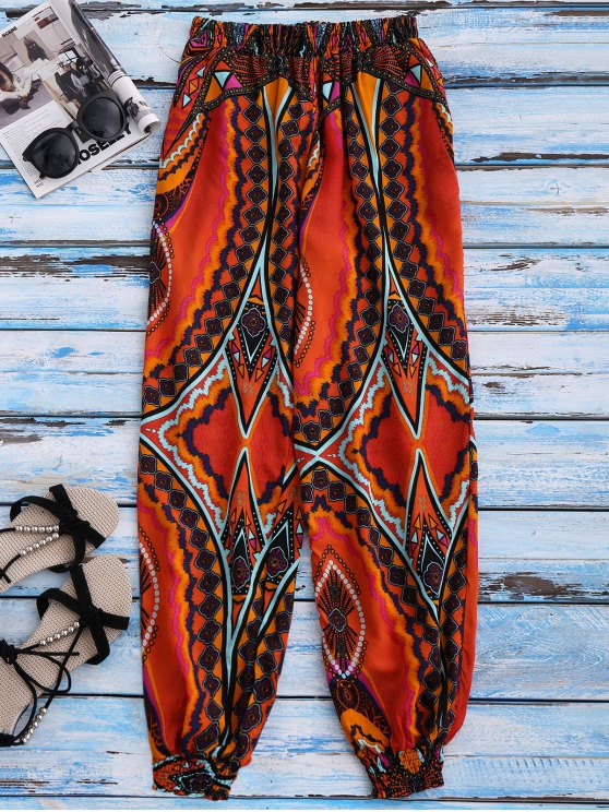Printed Tapered Pants - COLORMIX M Mobile