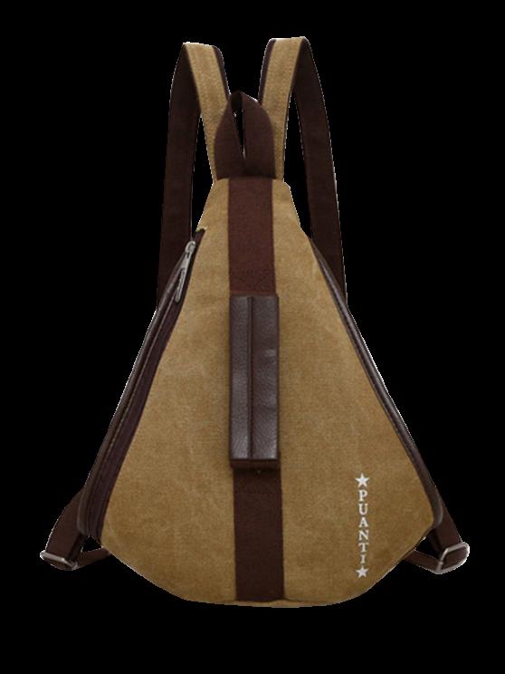 Casual multifunción mochila de lona - Caqui
