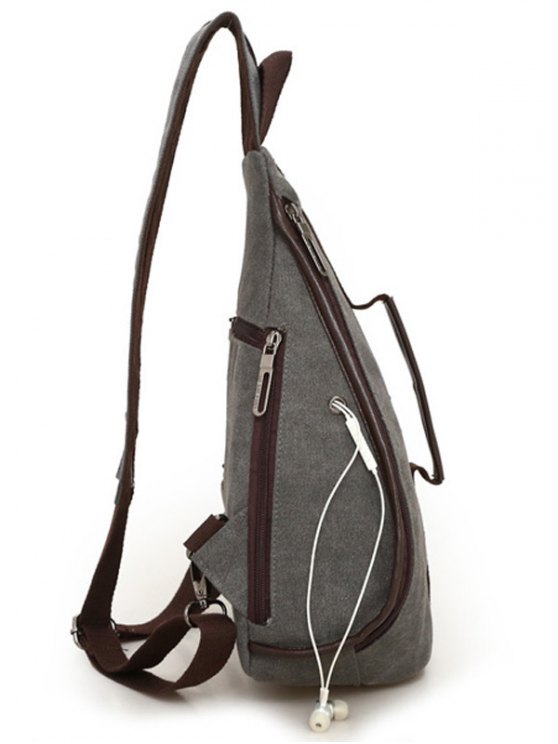Casual Multifunction Canvas Backpack - GRAY  Mobile