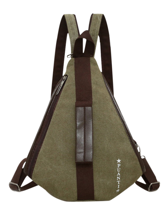 ladies Casual Multifunction Canvas Backpack - ARMY GREEN
