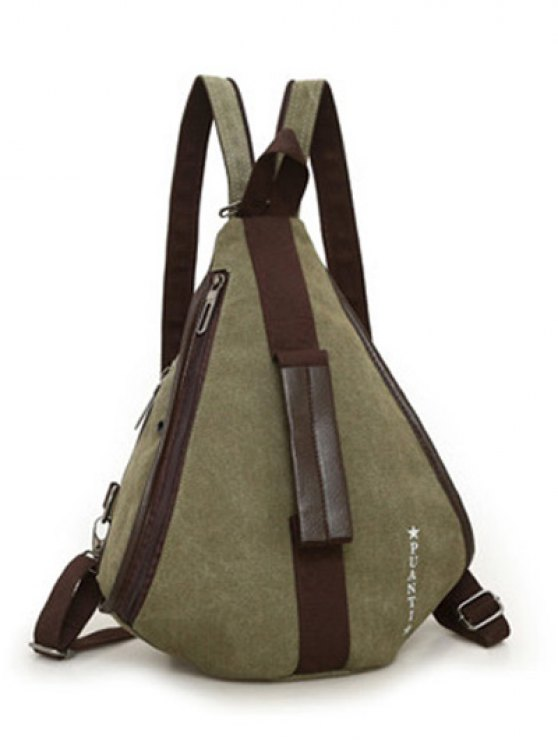 Casual Multifunction Canvas Backpack - ARMY GREEN  Mobile