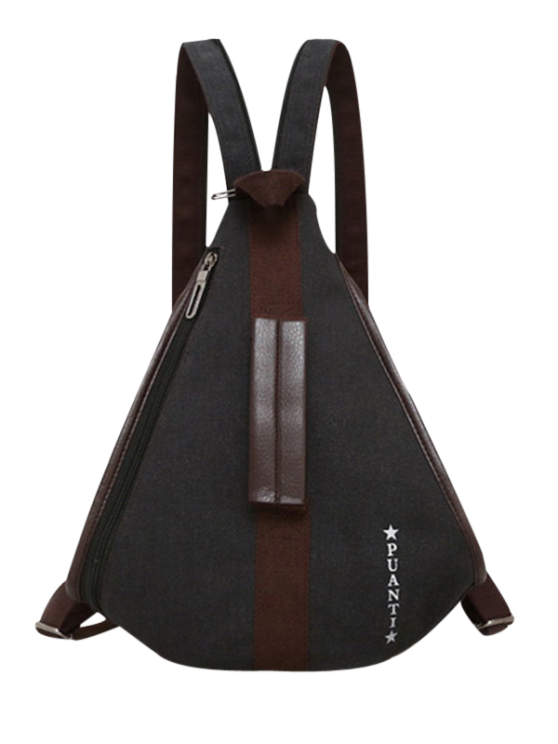 Casual Multifunction Canvas Backpack - BLACK  Mobile