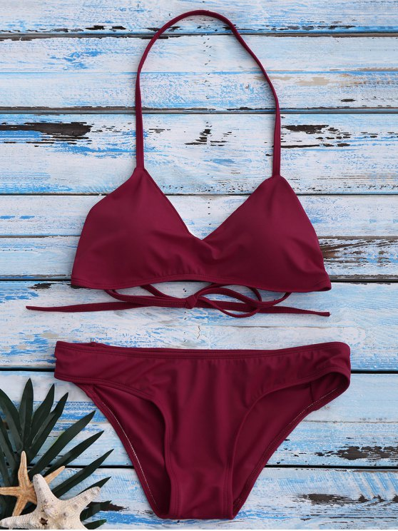 shops Strappy Bikini Set - RED M
