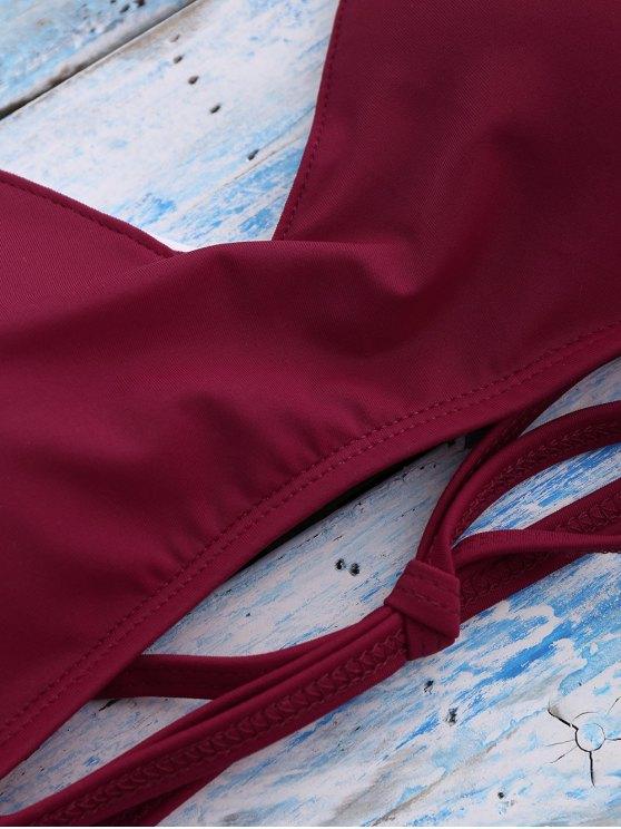 Strappy Bikini Set - RED L Mobile