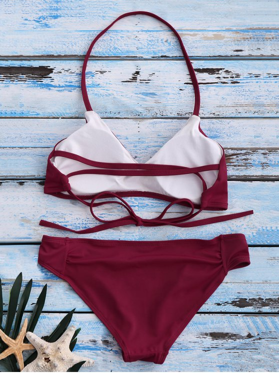 Strappy Bikini Set - RED XL Mobile
