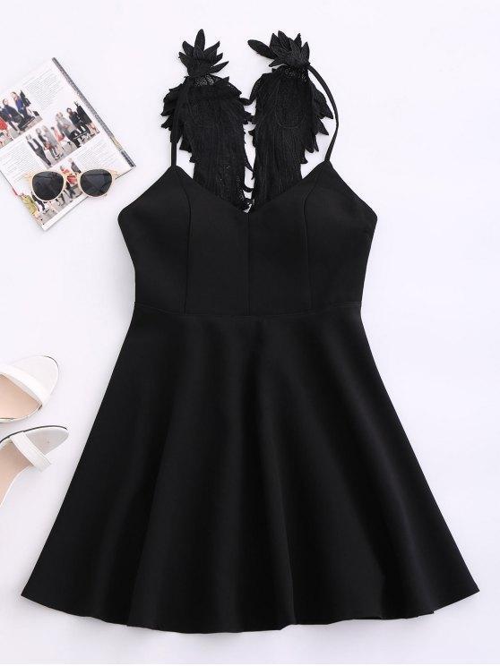 Ala vestido de la correa acolchada del patinador - Negro M