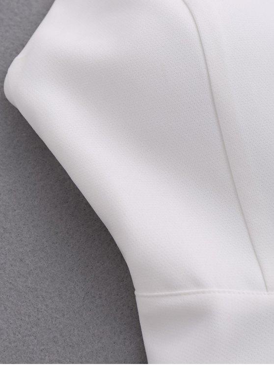 Wing Strap Skater Padded Dress - WHITE L Mobile