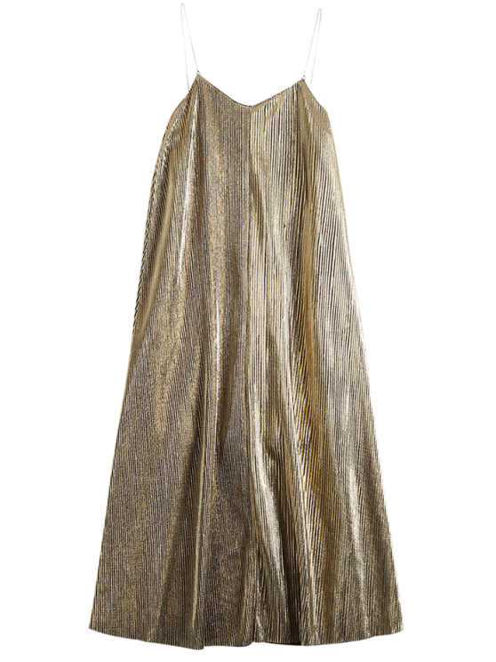 chic Vintage Glittered Midi Dress - GOLDEN L