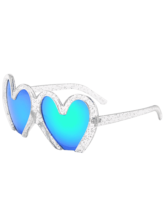 latest UV Protection Heart Sunglasses - TRANSPARENT