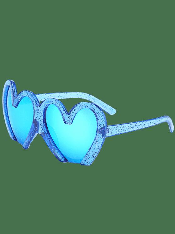 trendy UV Protection Heart Sunglasses - BLUE