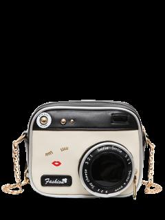 كاميرا الجدة على شكل الصليب حقيبة الجسم - أبيض وأسود