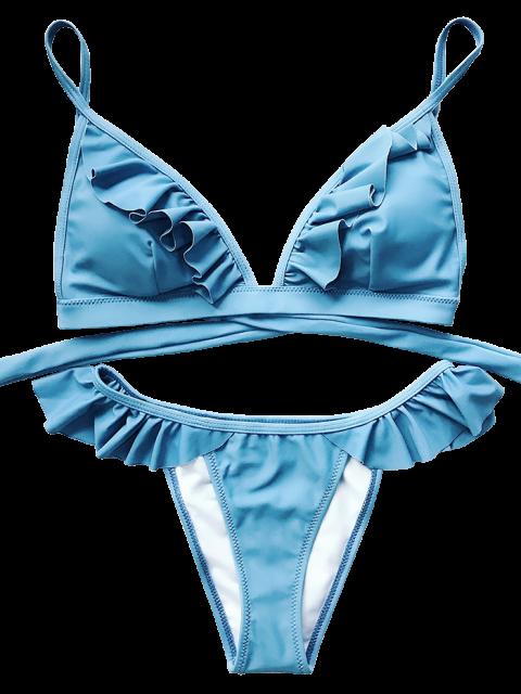 outfit Cami Frilly High Leg Bikini - BLUE M Mobile