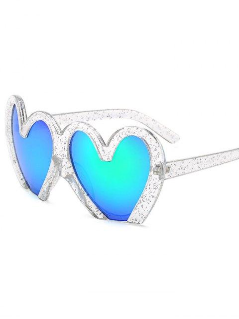 Lunettes de soleil de protection UV en forme de coeurs - Transparent  Mobile