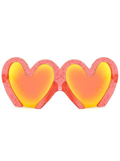 Lunettes de soleil de protection UV en forme de coeurs - Rouge  Mobile