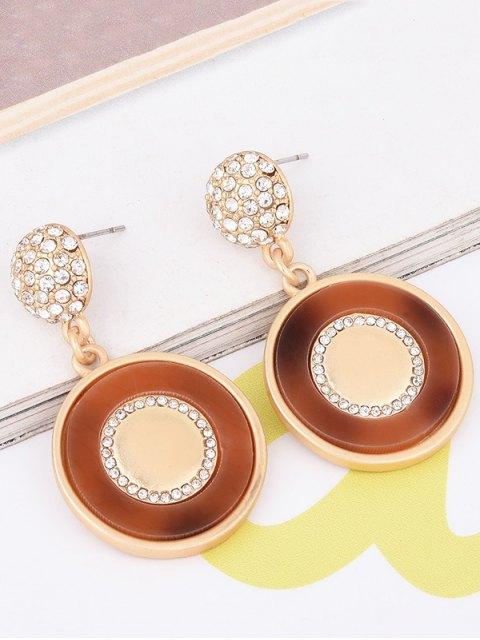 affordable Rhinestone Ball Circle Earrings - GOLDEN  Mobile