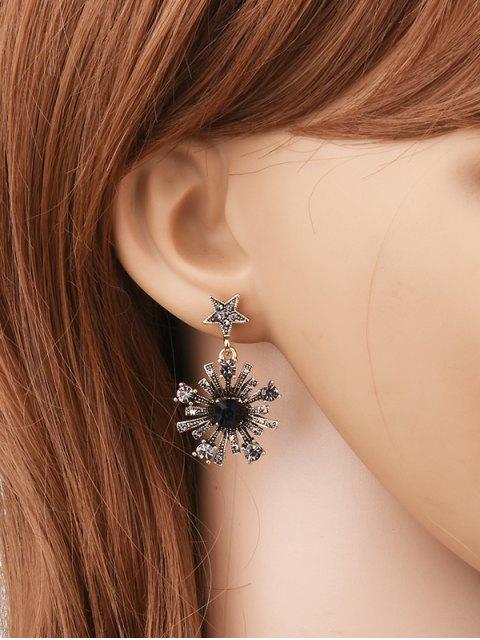 fancy Rhinestone Moon Star Sun Earrings - GOLDEN  Mobile