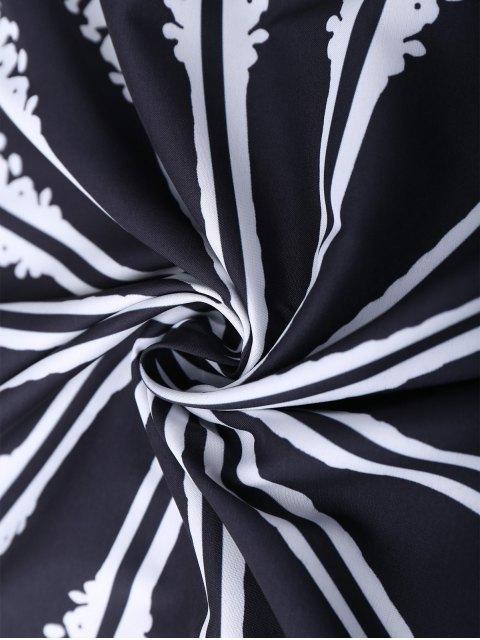 womens Round Mandala Tapestry Beach Blanket - BLACK  Mobile