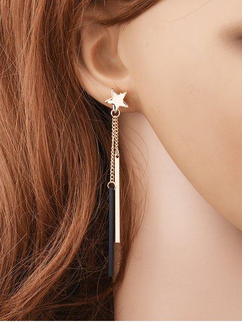 Boucles d'oreilles étoilées à pendants de barres - Or  Mobile