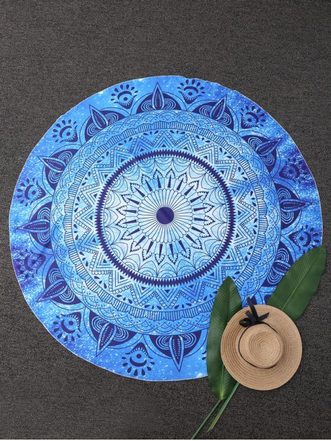 women Round Geometric Beach Throw - BLUE ONE SIZE Mobile