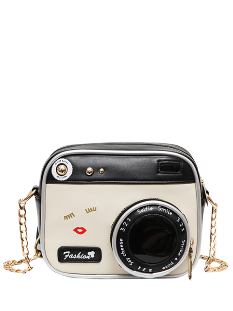 outfits Novelty Camera Shaped Cross Body Bag - WHITE AND BLACK  Mobile
