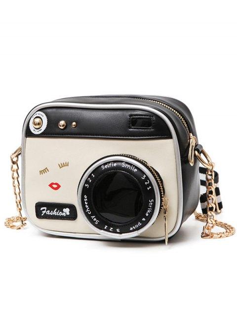 Sac bandoulière en forme de caméra - Blanc et Noir  Mobile