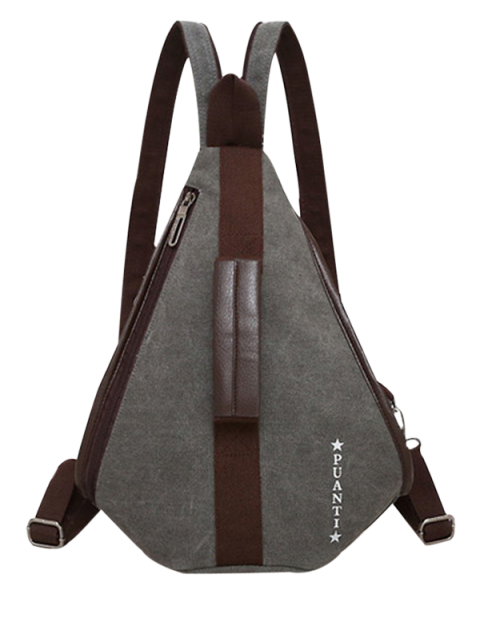 women Casual Multifunction Canvas Backpack - GRAY  Mobile