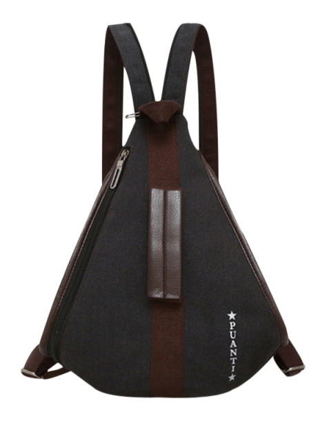 lady Casual Multifunction Canvas Backpack - BLACK  Mobile