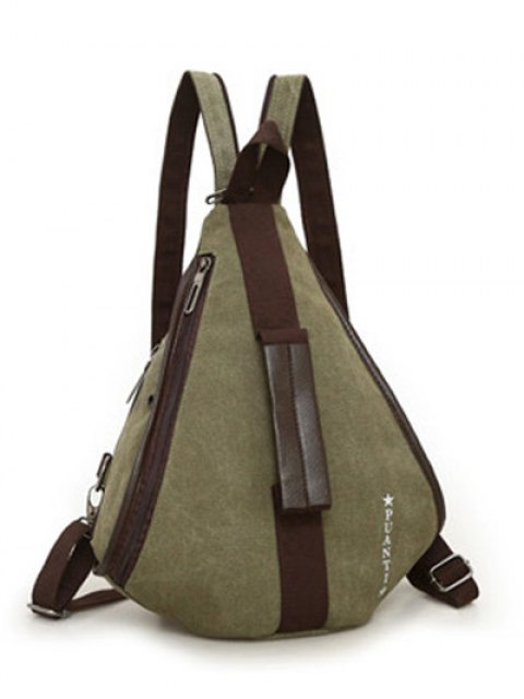 ladies Casual Multifunction Canvas Backpack - ARMY GREEN  Mobile