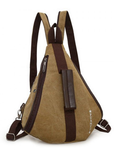 womens Casual Multifunction Canvas Backpack - KHAKI  Mobile