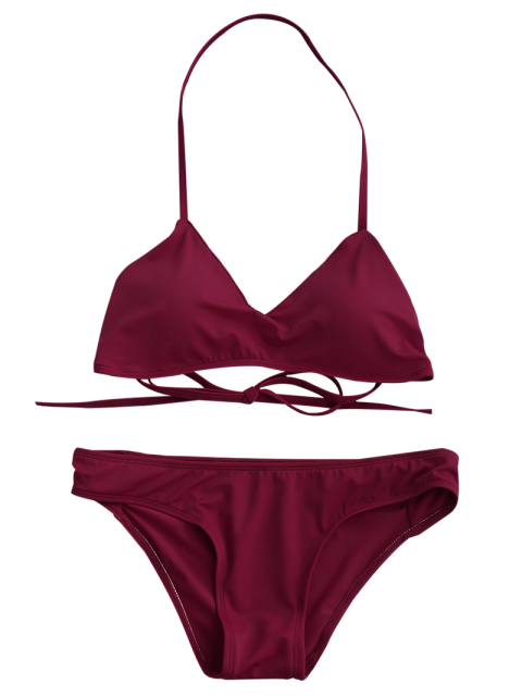 shop Strappy Bikini Set - RED S Mobile