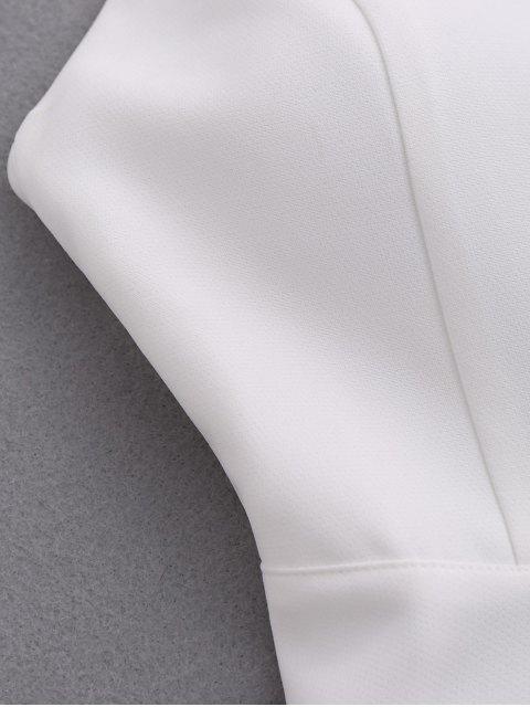 Robe rembourrée avec sangles d'ailes - Blanc L Mobile
