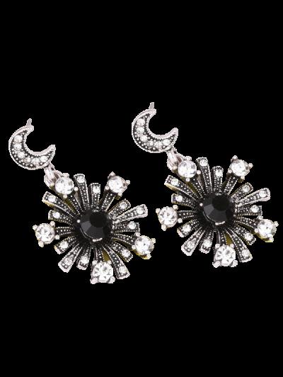 Rhinestone Star Moon Sun Earrings