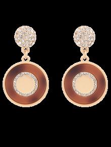 Rhinestone Ball Circle Earrings