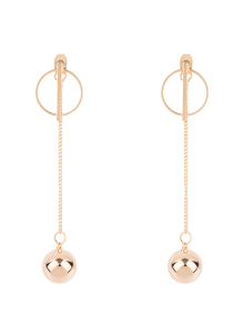 Circle Chain Ball Earrings