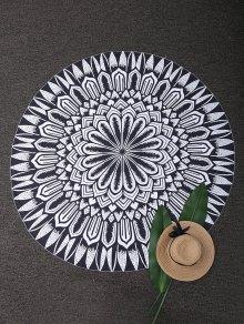 Round Mandala Tapestry Beach Blanket