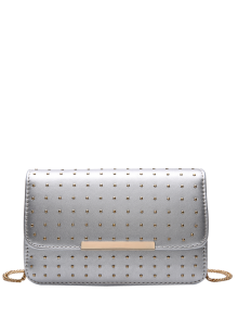 Rivet Chains Flap Cross Body Bag