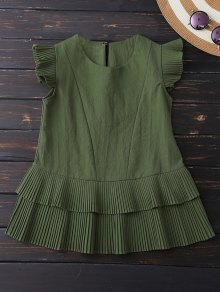 Layered Pleated Panel Blouse