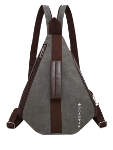 Casual Multifunction Canvas Backpack - Gray