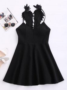 Wing Strap Skater Padded Dress