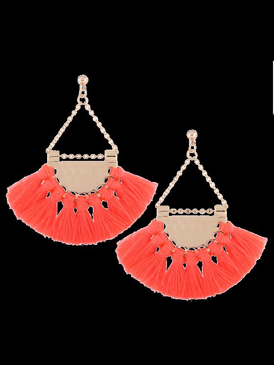 Boucles d'oreilles triangulaires avec glands en alliage - ROSE PÂLE