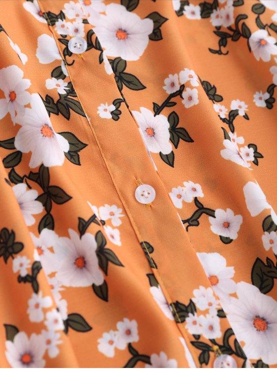 Floral Off The Shoulder A-Line Dress - EARTHY S Mobile