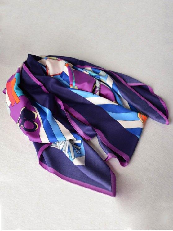 Handbags Shawl Scarf - PURPLE  Mobile