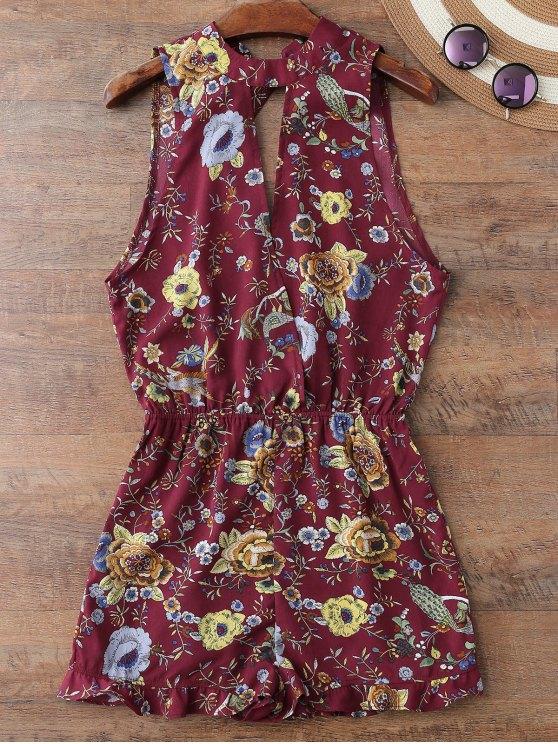 Combishort floral de plage sans manches - Clairet XL