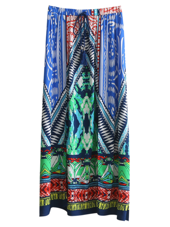 buy High Slit Printed Maxi Skirt - COLORMIX S