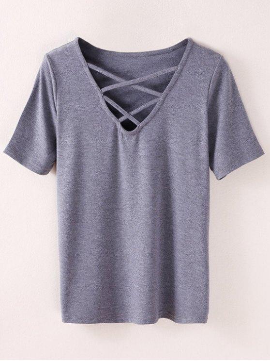 Camiseta Strappy - Ahumado gris S