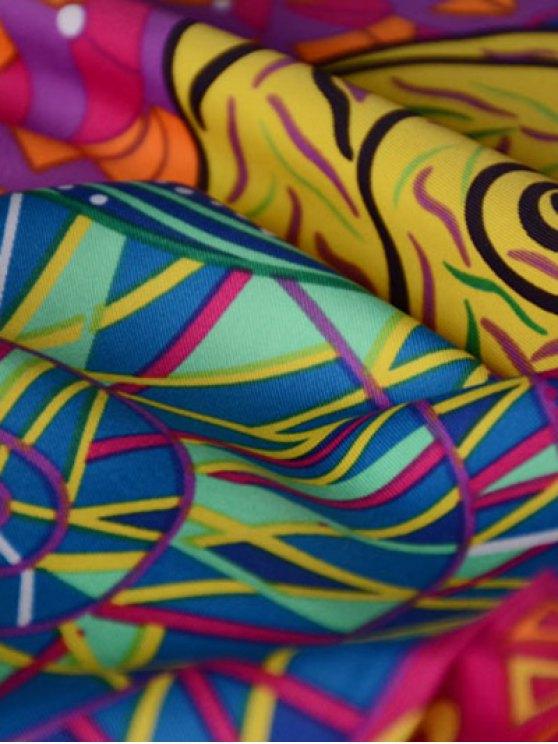 Colorful Vortex Print Shawl Scarf - PURPLE  Mobile