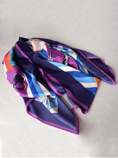 women Handbags Shawl Scarf - PURPLE  Mobile