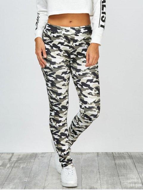 online High Waisted Camo Leggings - JUNGLE CAMOUFLAGE XL Mobile